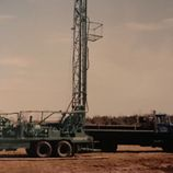 Old well drilling setup